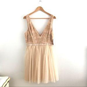 Free People Deja Vu Mini Tulle Dress
